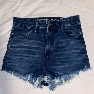 american eagle high waisted denim shorts